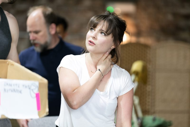 Gemma Sutton in rehearsals for THE RINK, credit Darren Bell