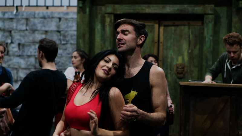 [L-R] Lucy Kay & Richard Munday - TriOperas Rehearsal - Peacock Theatre - Photograph by James Martin (13)