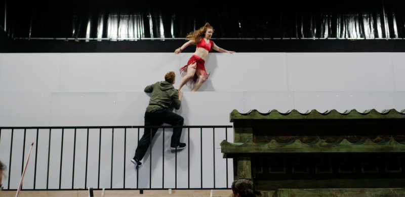 [L-R] Mathew McCabe & Sianna Bruce - TriOperas Rehearsal - Peacock Theatre - Photograph by James Martin (18)