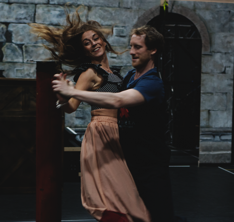 [L-R] Sara Hamilton & Adam Margilewski - TriOperas Rehearsal - Peacock Theatre - Photograph by James Martin (7)
