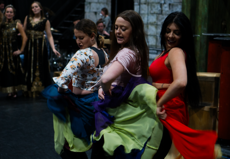 [L-R] Shoreina Pereira, Lucy Aiston, Lucy Kay - TriOperas Rehearsals - Peacock Theatre - Photograph by James Martin (10)