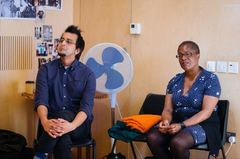 Madani Younis and Winsome Pinnock in rehearsals for Leave Taking at the Bush Theatre © Helen Murray