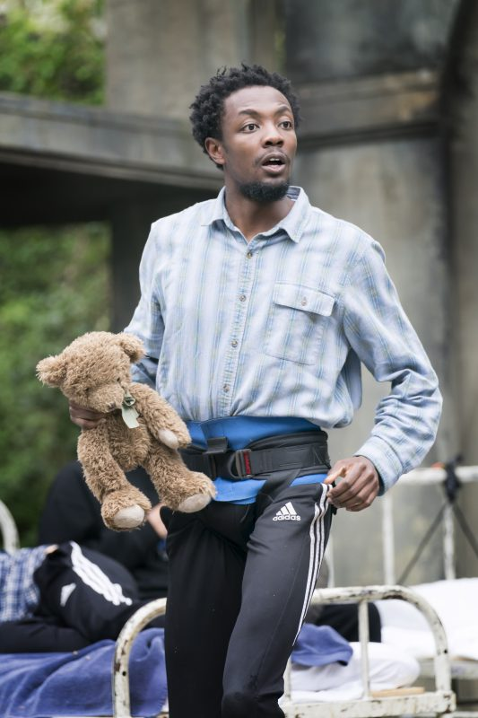 Omari Douglas (Michael) in rehearsals for Peter Pan at Regent's Park Open Air Theatre. Photo Johan Persson