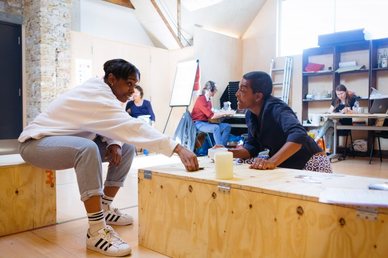 Seraphina Beh and Adjoa Andoh in rehearsals for Leave Taking at the Bush Theatre © Helen Murray