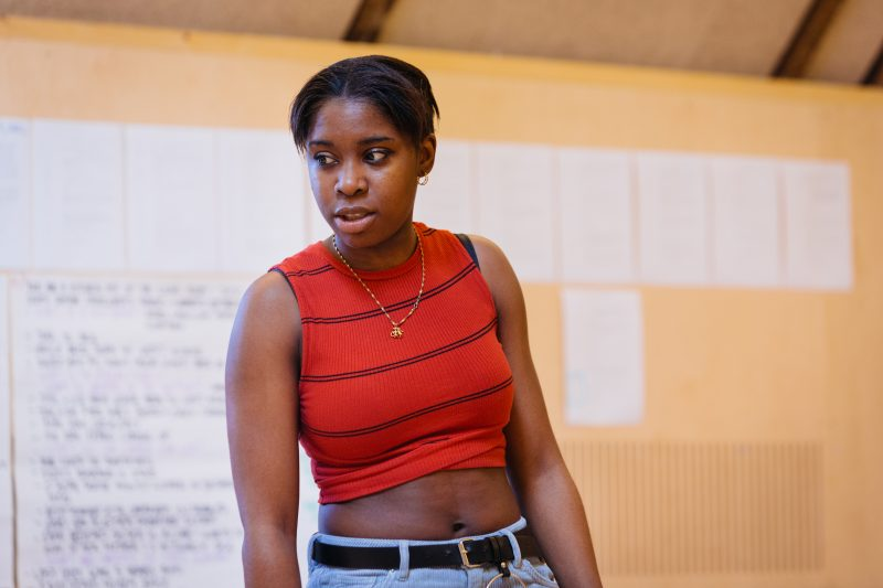 Seraphina Beh in rehearsals for Leave Taking at the Bush Theatre 4 © Helen Murray