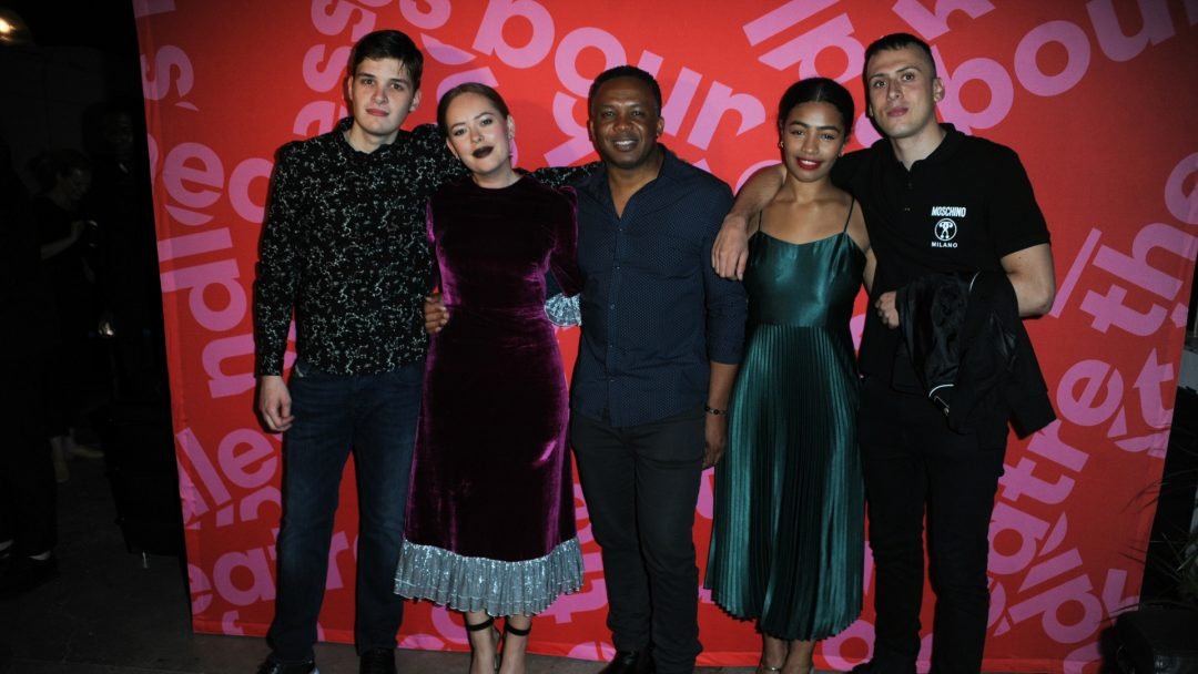 Tanya Burr and The Cast of Confidence on Opening Night c. Terry Scott