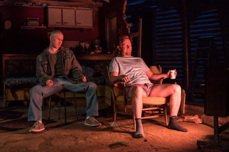 l-r Adam Gillen (Chris Smith), Steffan Rhodri (Ansel Smith) - Killer Joe at Trafalgar Studios - Photographer Marc Brenner (2)