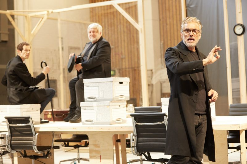 Ben Miles, Simon Russell Beale and Adam Godley inThe Lehman Trilogy at the National Theatre