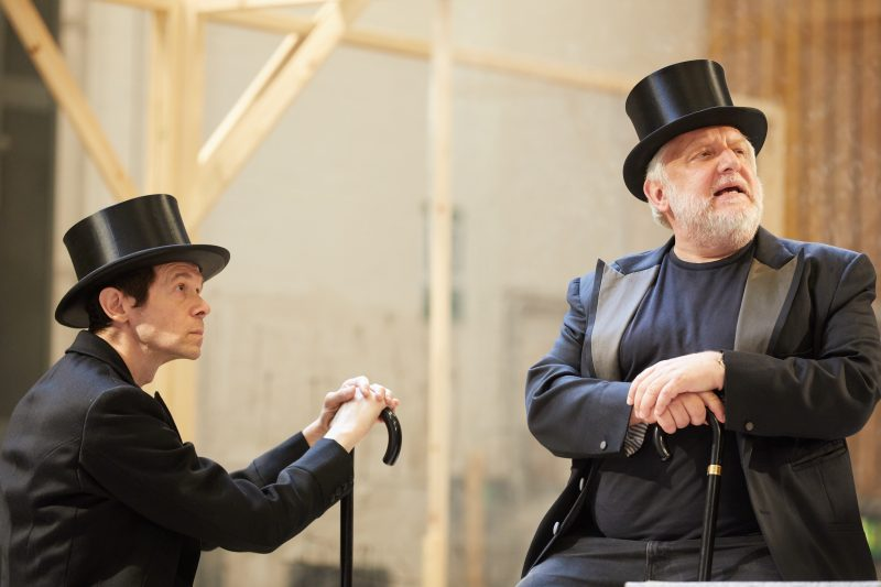Simon Russell Beale and Adam Godley inThe Lehman Trilogy at the National Theatre