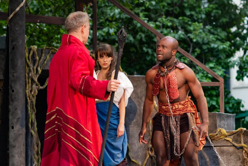 Iris Theatre's The Tempest, St. Paul's Church (Jamie Newall, Joanne Thomson and Prince Plockey) - courtesy of Nick Rutter