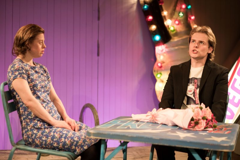 Sarah Gordy (Kelly) and Nicky Priest (Dominic) in 'Jellyfish' at Bush Theatre
