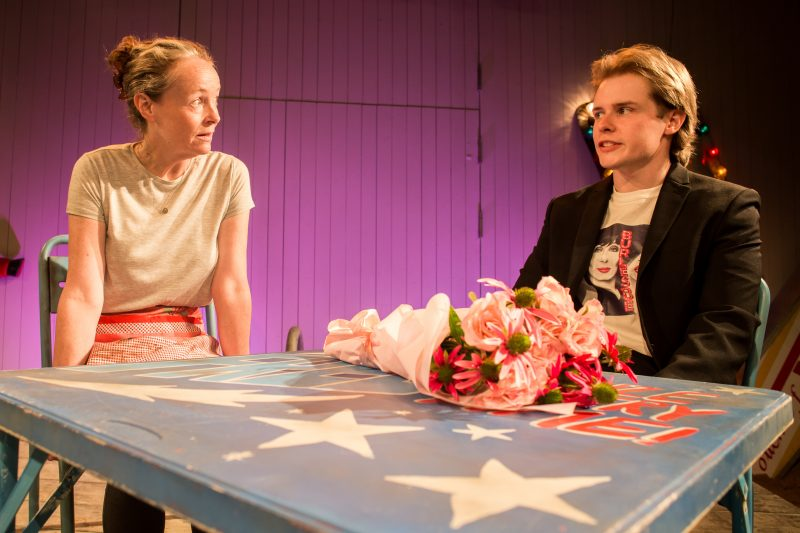 Sarah Gordy (Kelly) and Nicky Priest (Dominic) in 'Jellyfish' at Bush Theatre.