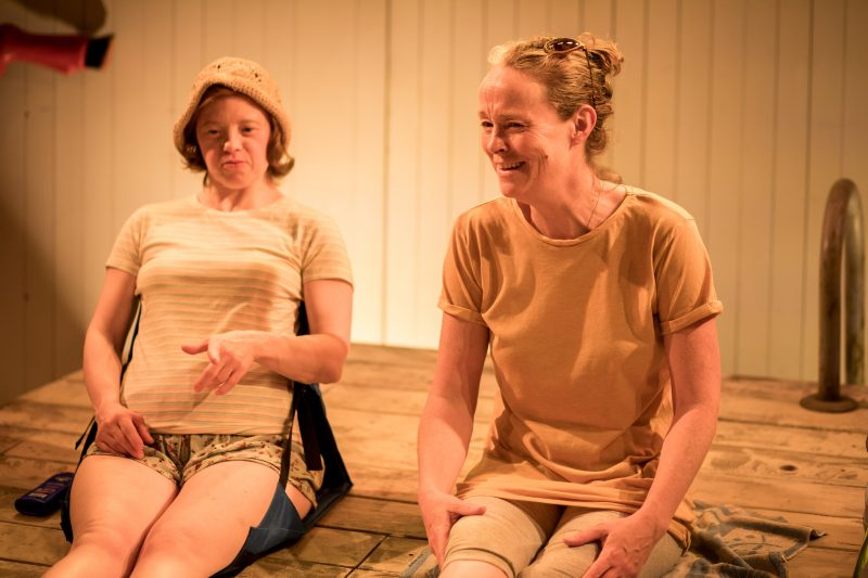 Sarah Gordy (Kelly) and Penny Layden (Agnes) in 'Jellyfish' at Bush Theatre