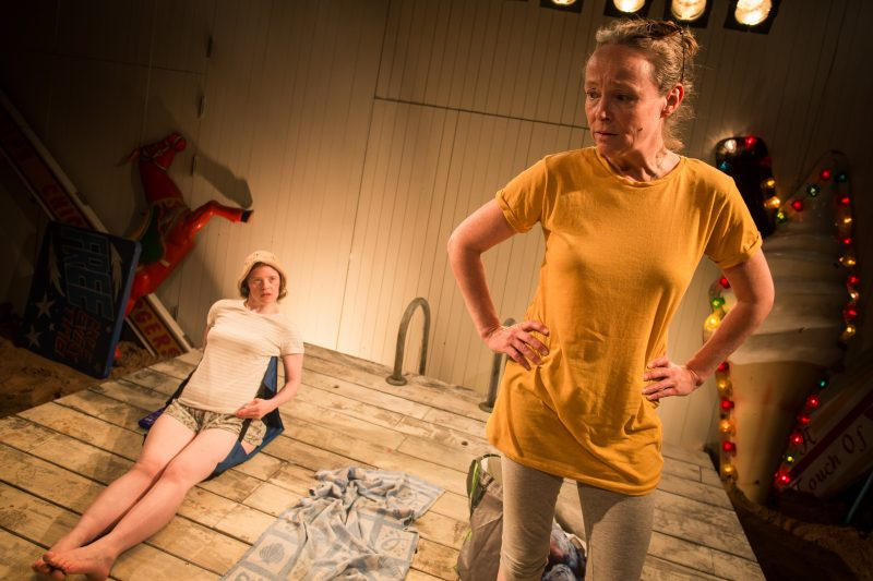Sarah Gordy (Kelly) and Penny Layden (Agnes) in Jellyfish at Bush Theatre