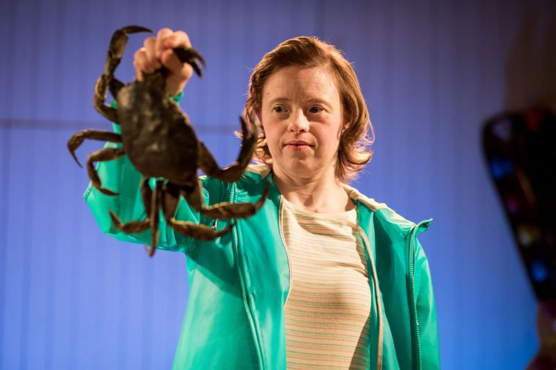 Sarah Gordy as Kelly in 'Jellyfish' at Bush Theatre. Photo Samuel Taylor