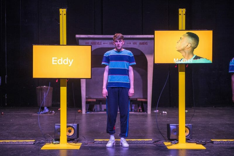 Alex Austin as Eddy in The End of Eddy. A Unicorn Theatre and Untitled Projects Production. Photo by Tommy Ga-Ken Wan