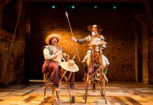 David Threlfall and Rufus Hound in Don Quixote 2016 production c.Helen-Maybanks RSC