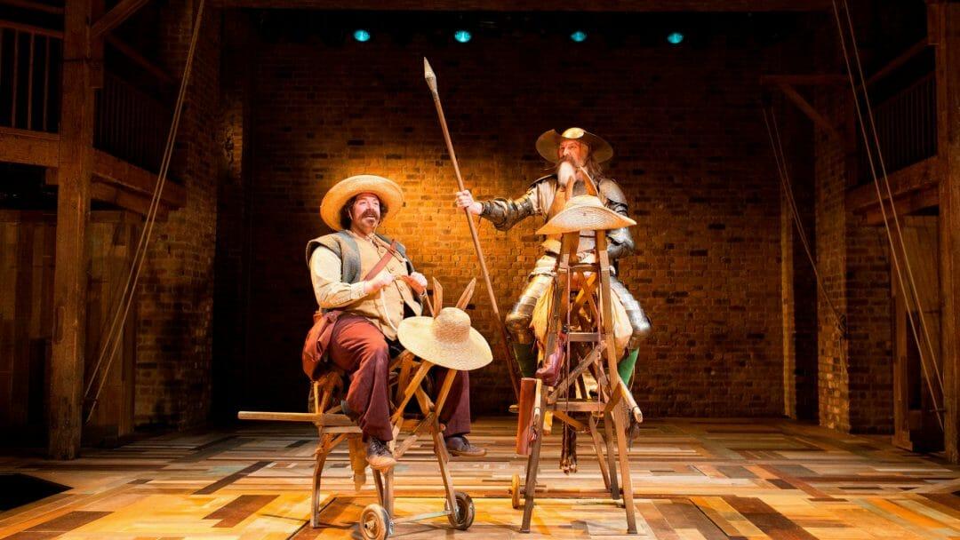 David Threlfall and Rufus Hound in Don Quixote 2016 production c.Helen-Maybanks RSC