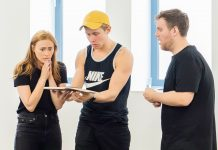 First Look Rob Houchen and The Cast of Eugenius in Rehearsal