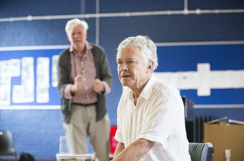 Matthew Kelly & David Yelland in rehearsals for THE HABIT OF ART (c) James Findlay (2)Matthew Kelly & David Yelland in rehearsals for THE HABIT OF ART (c) James Findlay (2)