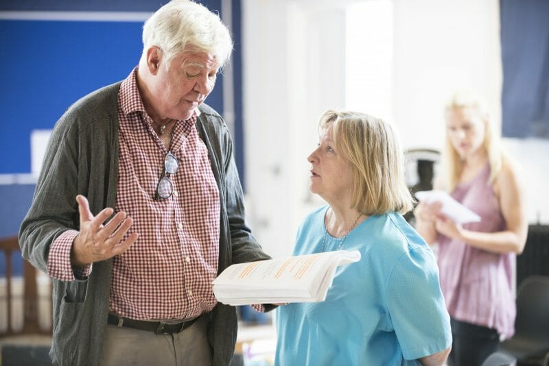 Matthew Kelly & Veronica Roberts in rehearsals for THE HABIT OF ART (c) James Findlay