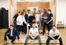 The Cast of Company in Rehearsal c. Helen Maybanks