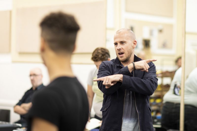 Dom-Shaw-UK-Associate-Director-in-rehearsal-for-Kinky-Boots-UK-Tour-Photo-Credit-Helen-Maybanks