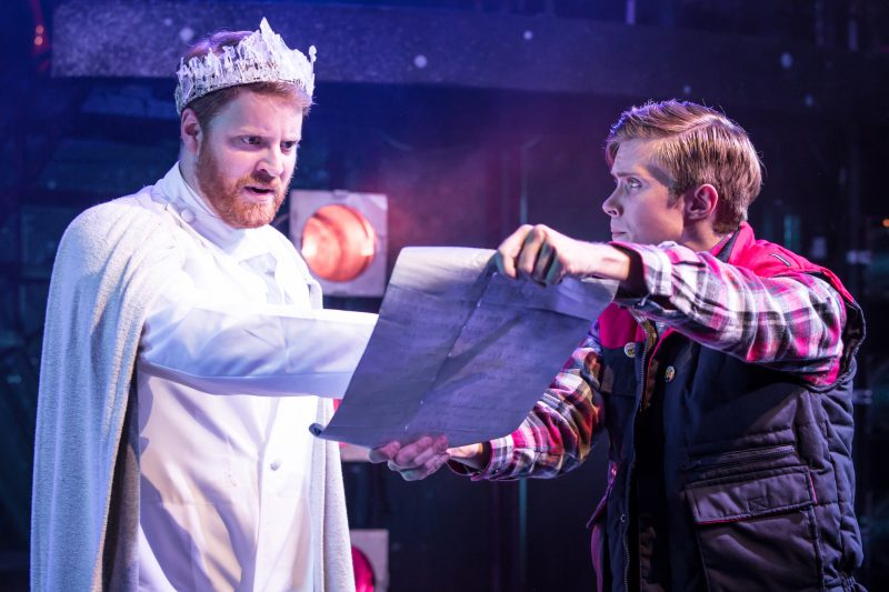 Eugenius Christopher Ragland as Lord Tough Man and Rob Houchen as Eugene Photo Scott Rylander