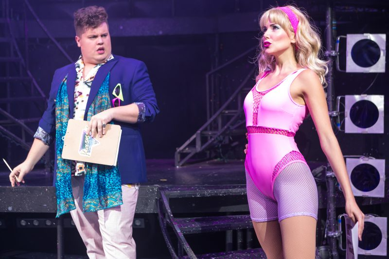 Eugenius Scott Paige as Theo and Emily Tierney as Carrie Photo Svott Rylander