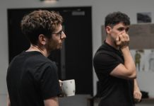 Gerard Kearns and Robbie O'Neill - To Have to Shoot Irishmen rehearsals - Photo by @themattdaniels