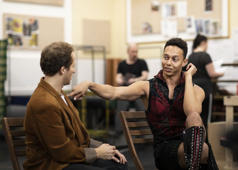 Joel-Harper-Jackson-Charlie-and-Callum-Francis-Lola-in-rehearsal-for-Kinky-Boots-UK-Tour-Photo-Credit-Helen-Maybanks