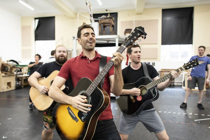 Joshua-St.-Clair-Harry-and-cast-in-rehearsal-for-Kinky-Boots-UK-Tour-Photo-Credit-Helen-Maybanks
