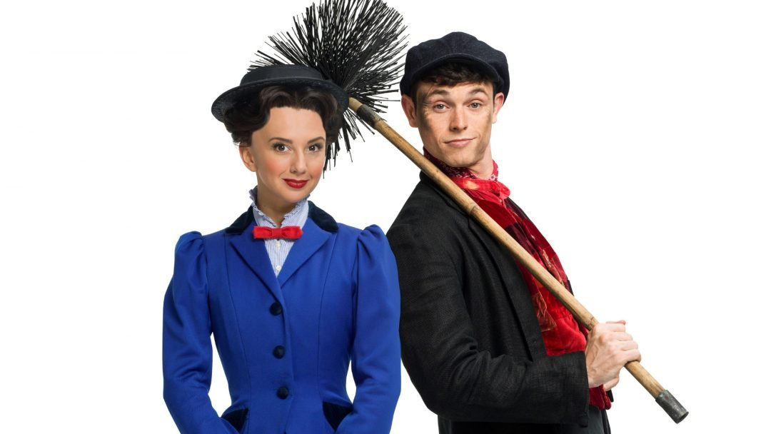 Zizi Strallen as Mary Poppins and Charlie Stemp as Bert - c. Seamus Ryan