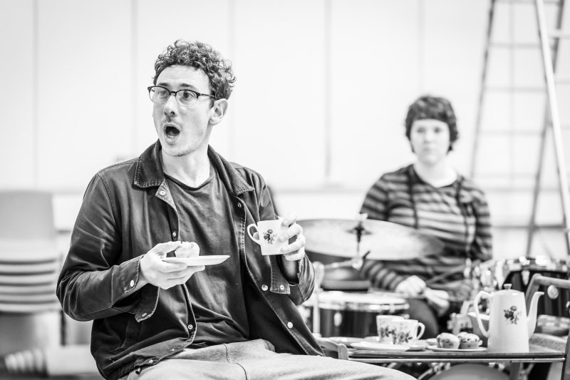 Al Weaver and Abbie Finn in rehearsals for Pinter Four. Image by Marc Brenner.Pinter FOUR REH