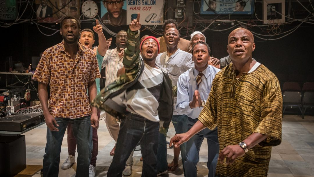 Barber Shop Chronicles at the National Theatre c. Marc Brenner