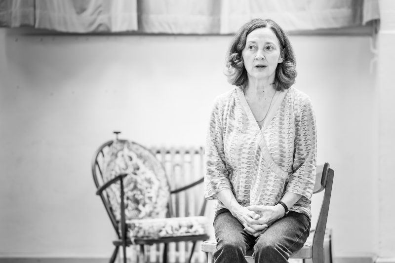 Brid Brennan in rehearsals for Pinter Four. Image by Marc Brenner.Pinter FOUR REH