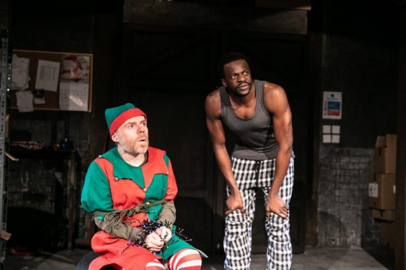 Dan Starkey and Michael Salami star in The Night Before Christmas at Southwark Playhouse credit Darren Bell