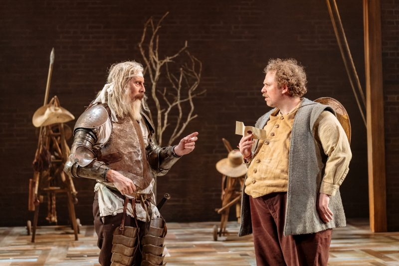David Threlfall and Rufus Hound in the Royal Shakespeare Companys Don Quixote. London . Photography by Manuel Harlan.
