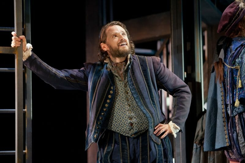 Edward Harrison in Shakespeare in Love UK tour. Credit Pete Le May