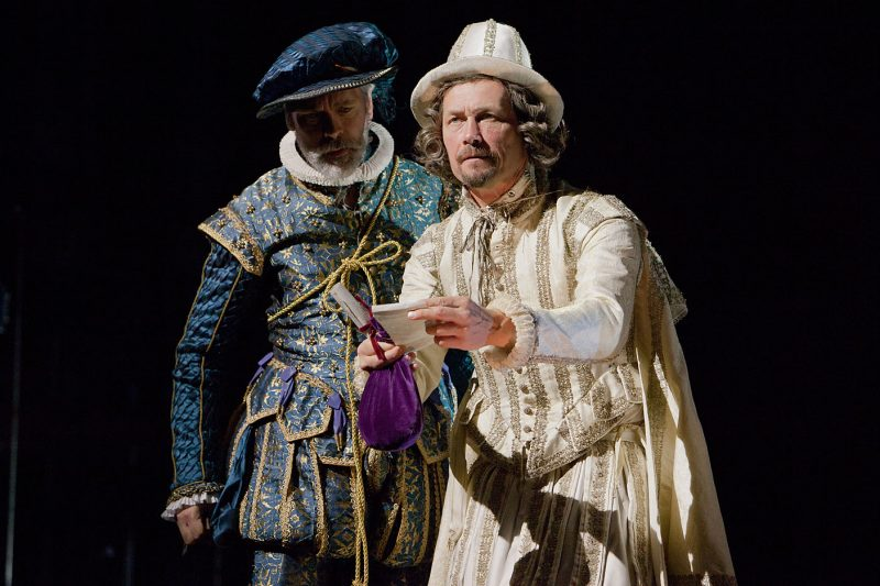 Giles Taylor and Bill Ward in Shakespeare in Love UK tour. Credit Pete Le May
