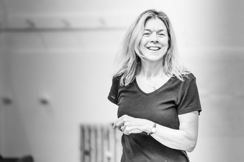 Janie Dee in rehearsals for Pinter Four. Image by Marc Brenner. Pinter FOUR REH