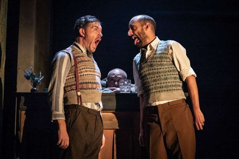 Lee Evans and Tom Edden in Pinter Three. Photo credit Marc Brenner.Pinter Three PROD DRESS