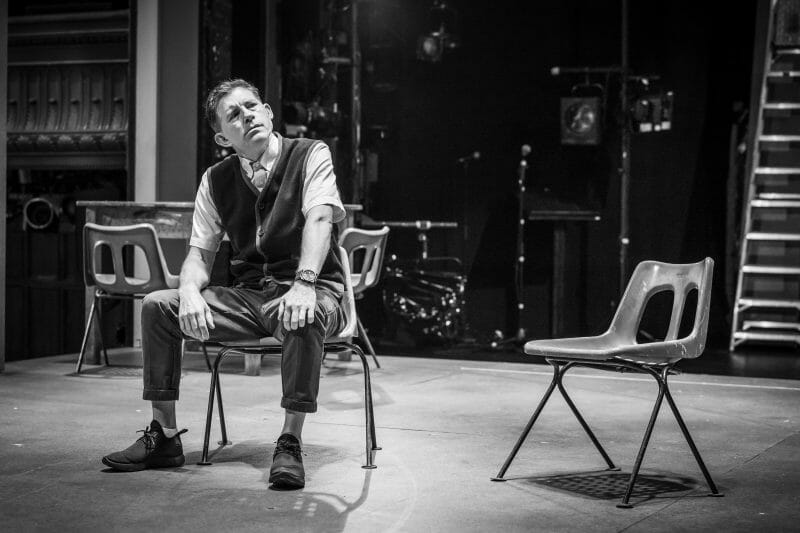 Lee Evans in rehearsals for Pinter Three photo Marc Brenner