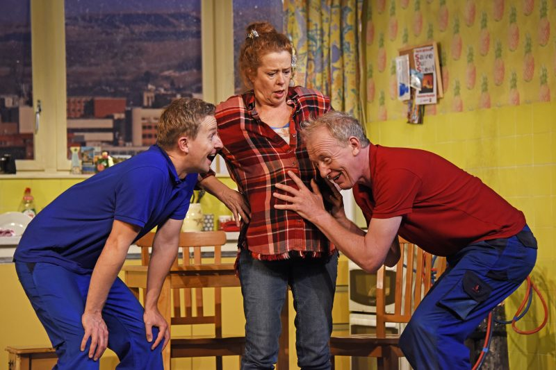 Matt Connor as Lewis Lisa Howard as Anthea and Steve Huison as Jack Photo by Nobby Clark ©nc