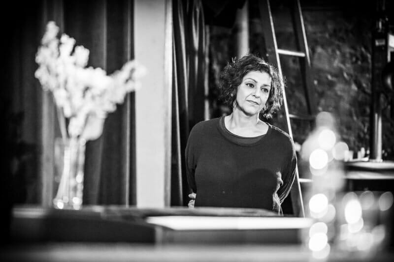 Meera Syal in rehearsals for Pinter Three photo Marc Brenner
