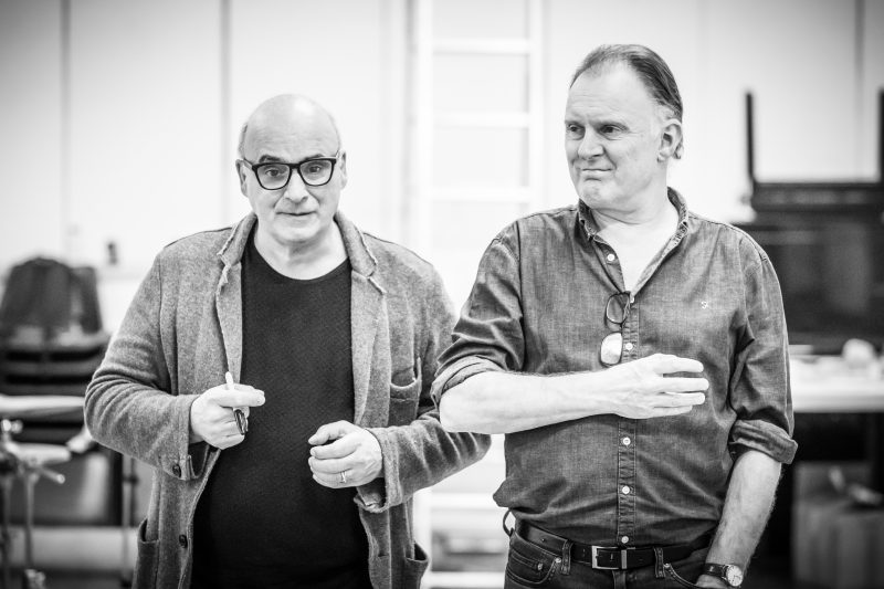 Peter Polycarpou and Robert Glenister in rehearsals for Pinter Four. Image by Marc Brenner.Pinter FOUR REH