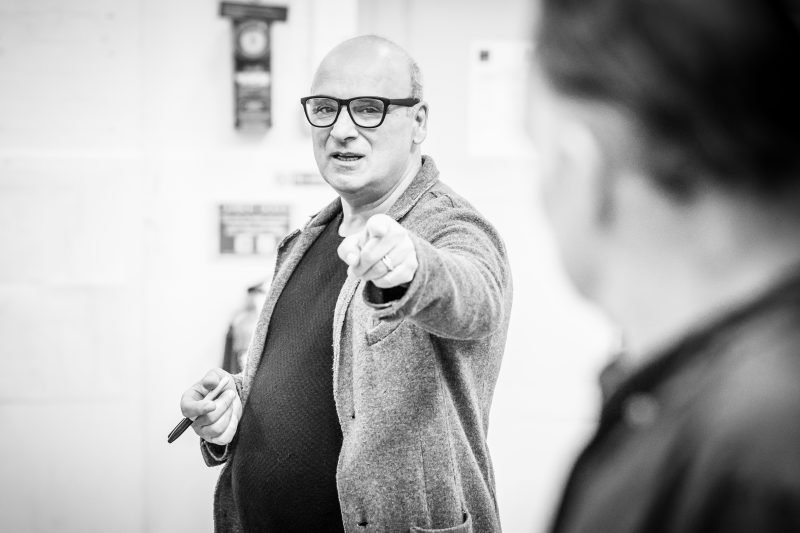 Peter Polycarpou in rehearsals for Pinter Four. Image by Marc Brenner.Pinter FOUR REH