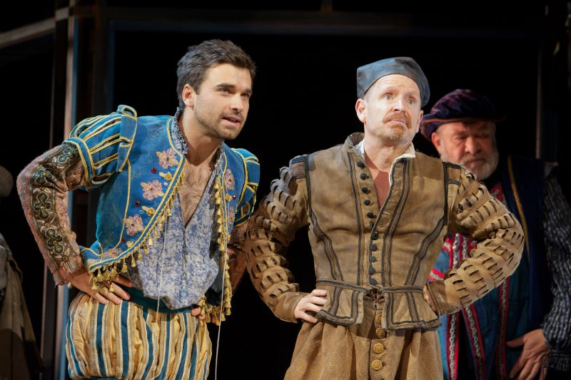 Pierro Niel Mee and Ian Hughes in Shakespeare in Love UK tour. Credit Pete Le May