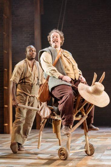 Raphael Bushay and Rufus Hound in the Royal Shakespeare Companys Don Quixote. London . Photography by Manuel Harlan