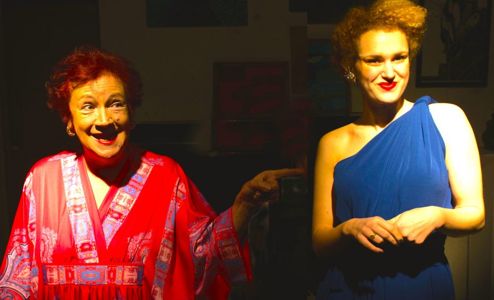 Polly March and Larissa Bonaci in Star Of Strait Street, photo credit Justin Mamo
